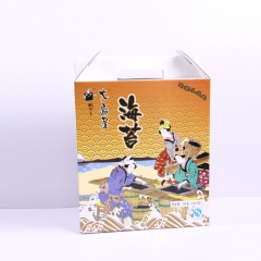大岛屋紫菜调味紫菜味付海苔金装礼品盒 126g 盒
