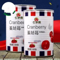 仁华缘 糖水蔓越莓罐头 425g 罐