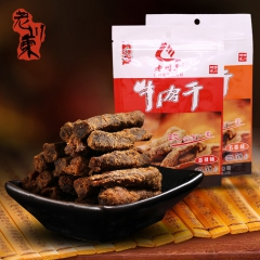 老川东香辣牛肉干 58g*5袋 袋