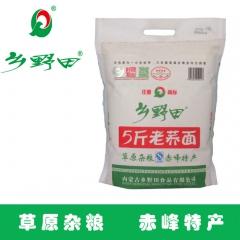 乡野田内蒙古粮纯荞麦粉老荞面 2.5kg 袋