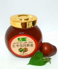 三源红枣花纯蜂蜜 250g 瓶装