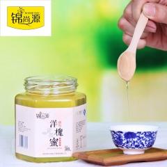 锦尚源洋槐蜜纯蜂蜜纯天然秦岭野生洋槐蜜 500g 瓶