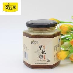 锦尚源纯天然农家自产枣花蜜结晶蜂蜜 500g 瓶