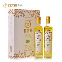 林之神物理冷榨一级纯茶油 500ml*2 瓶装