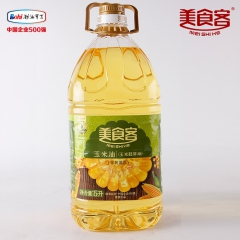 美食客玉米油一级压榨非转基因植物油老年人食用油单桶 5L 桶装