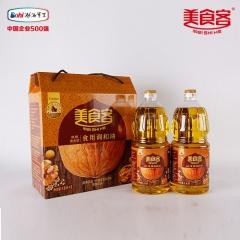美食客核桃调和油非转基因植物油核桃清香礼盒装 1.8L*2 瓶装