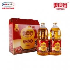 美食客花生油物理压榨非转基因纯天然礼盒传统油坊的那个香味礼盒装 1.8L*2 瓶装