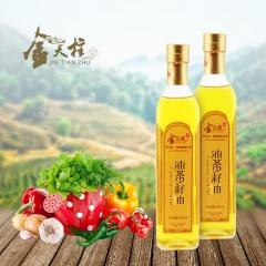 金天柱有机纯物理压榨山茶油 500ml*2瓶 提装