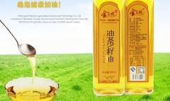 金天柱有机纯物理压榨冷榨一级山茶油 500ml 瓶装