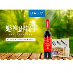 伊村山野野生蓝莓果酒8°(婚宴) 720ml*2 瓶装
