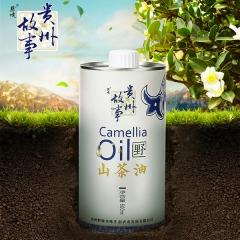 黔境贵州故事野山茶油 500ml 瓶装