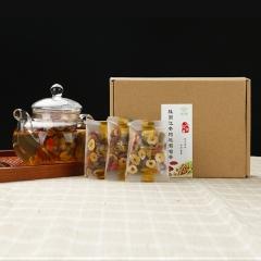【天下丰收】安萍天然食材红枣桂圆枸杞葡萄茶补气血美容养颜滋补茶 150g 盒