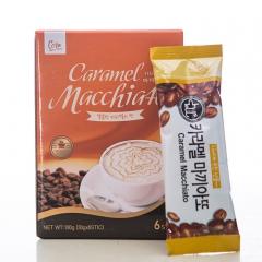 卡娃焦糖玛奇朵咖啡韩国进口口感香醇浪漫邂逅保证质量 180g*24盒 盒装