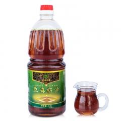 老农印象亚麻籽油零售黄土高原特产冷榨胡麻油厂家直销物理压榨亚麻籽油 1.2L 桶装