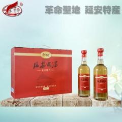 刺榆延安米酒二年陈酿半干型纯粮黍米糜子黄米酒8度礼盒4瓶装 500ml*4 箱装