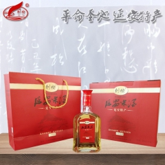 刺榆延安米酒三年陈酿半干型纯粮黍米糜子黄米酒10度礼盒2瓶装 500ml*2 箱装