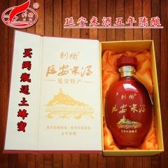 刺榆延安米酒五年陈酿干黄酒纯粮黍米糜子黄米酒12度750ml瓶装礼盒 750ml 瓶