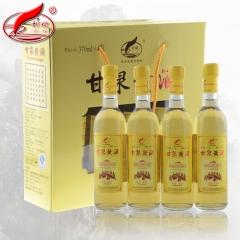 刺榆甘泉黄酒礼盒半干型纯粮黍米糜子黄米酒8度370ml*4瓶/盒 370ml*4 箱装