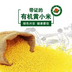 蒙佳有机东北2016新米黄小米月子米宝宝米五谷杂粮有机小黄米 550g 袋装