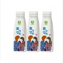 巨强男左女右酸奶饮品360ml*10瓶 3.6L 箱装
