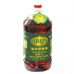 伊星绿色食品小磨胡麻油非转基因富含丰富的亚麻酸和亚油酸 5L 桶装